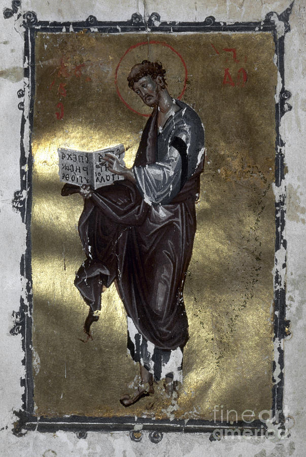 Saint Luke Painting  - Saint Luke Fine Art Print