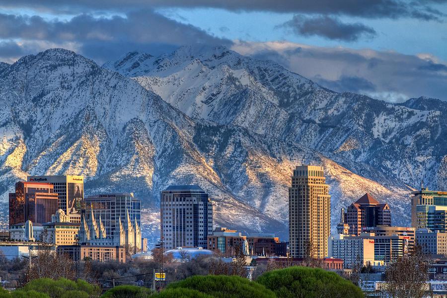 Salt Photograph - Salt Lake City Utah Usa by Utah Images