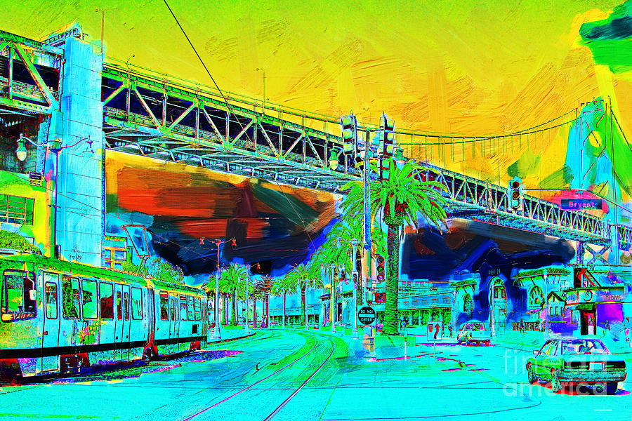 San Francisco Embarcadero And The Bay Bridge Photograph  - San Francisco Embarcadero And The Bay Bridge Fine Art Print