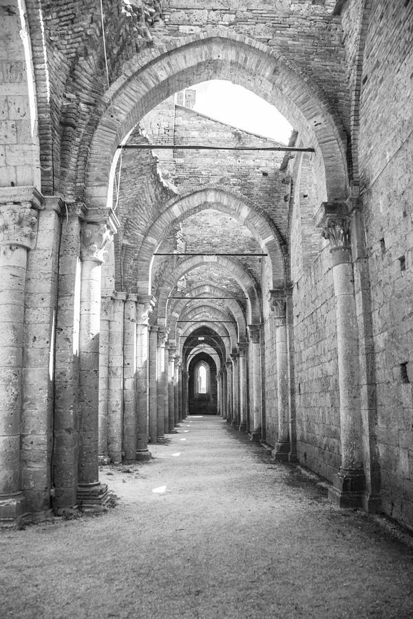 Church Photograph - San Galgano Abbey by Ralf Kaiser