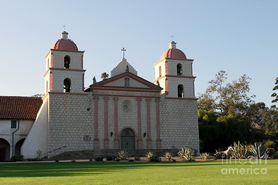 Santa Barbara Mission Photograph  - Santa Barbara Mission Fine Art Print