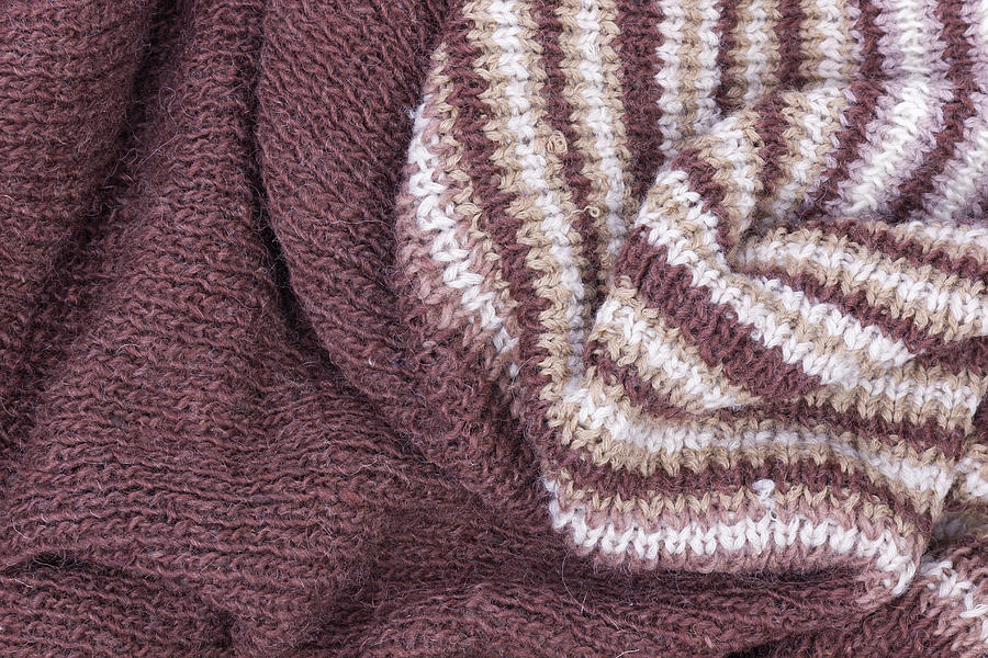 Scarf From Wool Manual Are Viscous Photograph