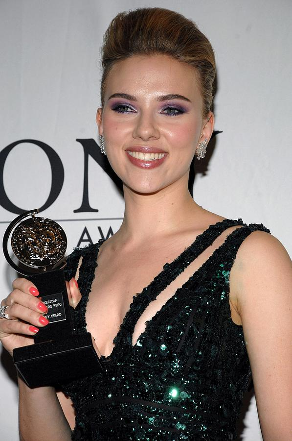 Scarlett Johansson In The Press Room Photograph  - Scarlett Johansson In The Press Room Fine Art Print
