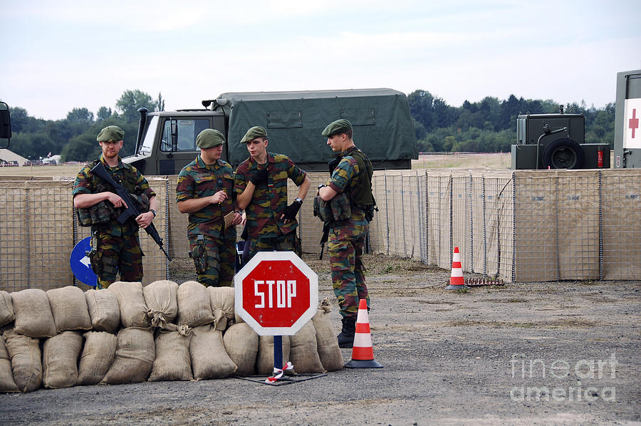 Armed Forces Photograph - Scenery Of A Checkpoint Used by Luc De Jaeger