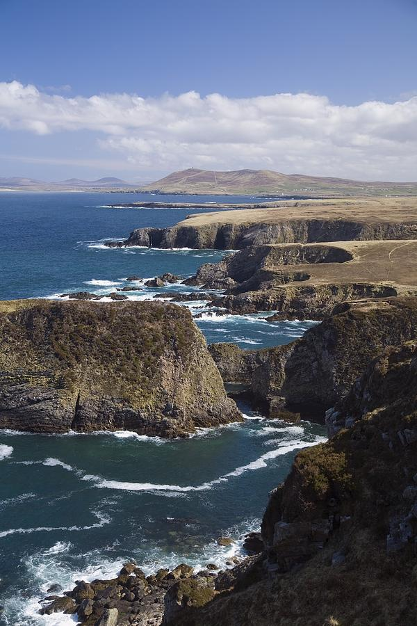 Sea Cliffs And Coastline Near Erris Photograph