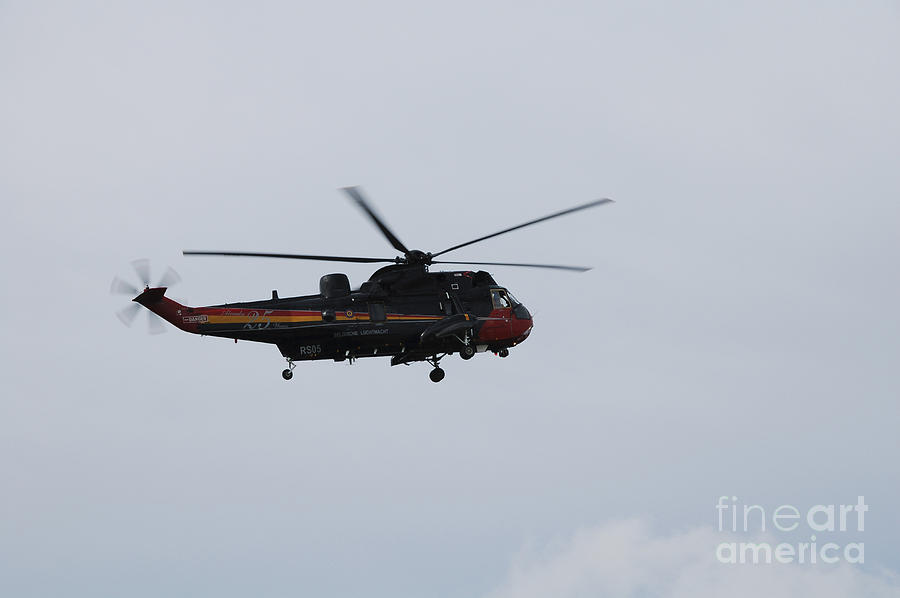 Sea King Helicopter Of The Belgian Army Photograph