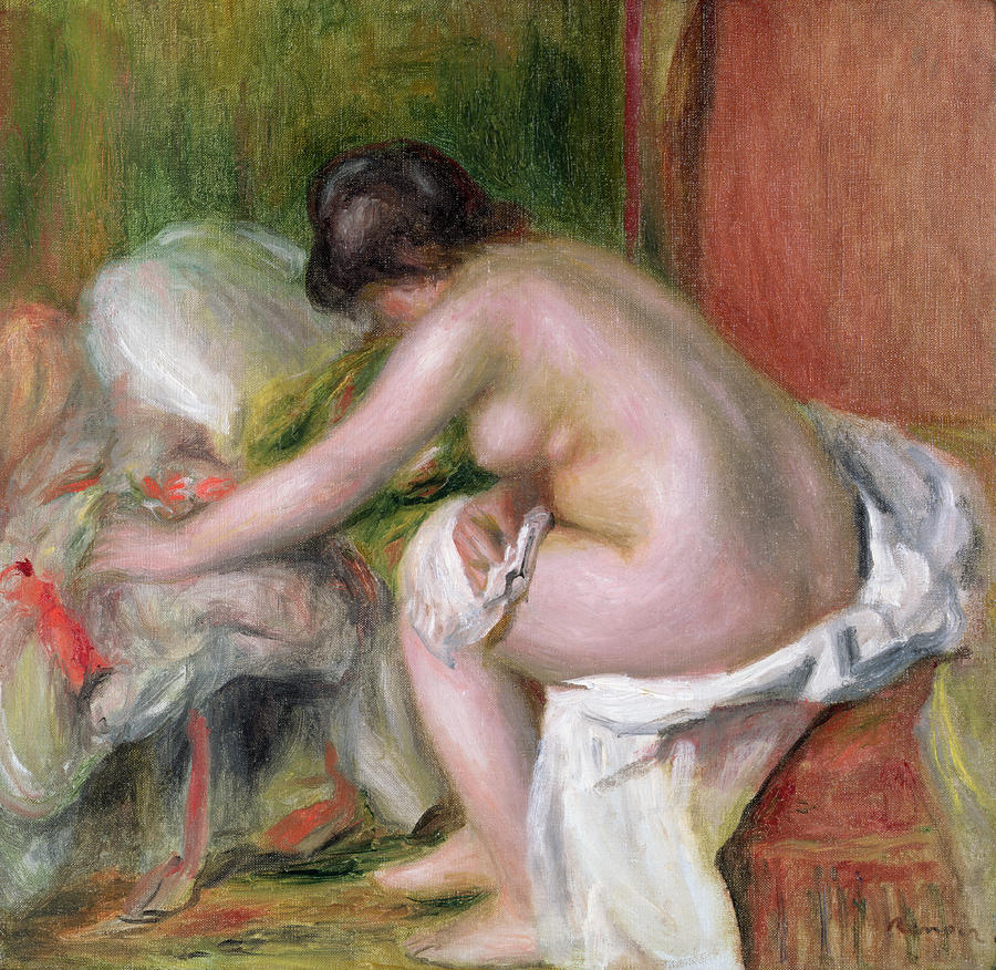 Seated Bather Painting  - Seated Bather Fine Art Print