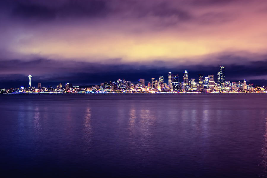 Seattle From Alki Photograph