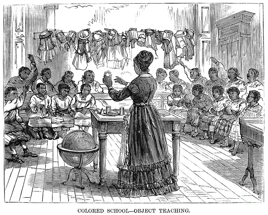 Segregated School, 1870 Photograph