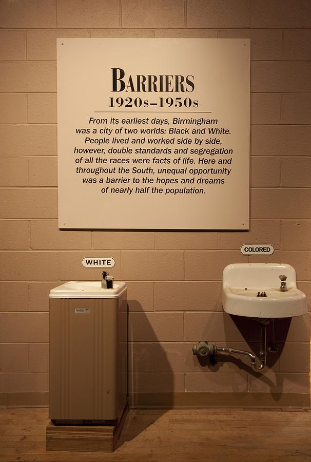 Segregated Water Fountains On Display Photograph  - Segregated Water Fountains On Display Fine Art Print