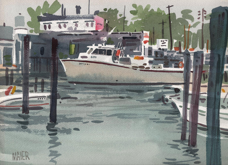 Shark River Inlet Painting
