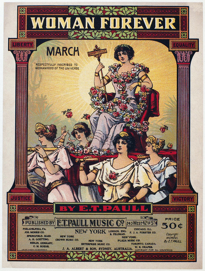 Sheet Music Cover, 1916 Photograph