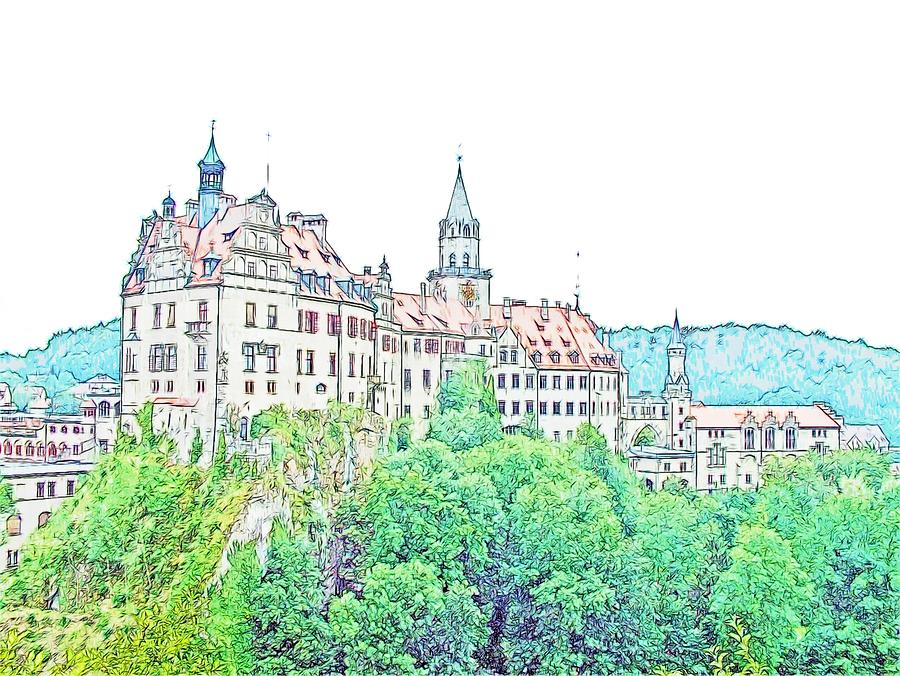 Sigmaringen Palace Germany Photograph  - Sigmaringen Palace Germany Fine Art Print