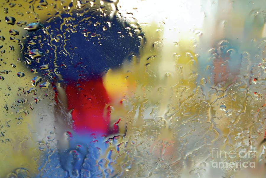 Silhouette In The Rain Photograph