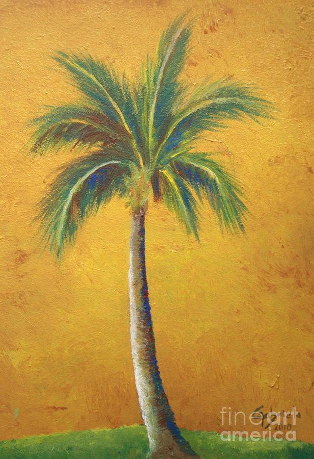Single palm tree by gabriela valencia for Palm tree painting