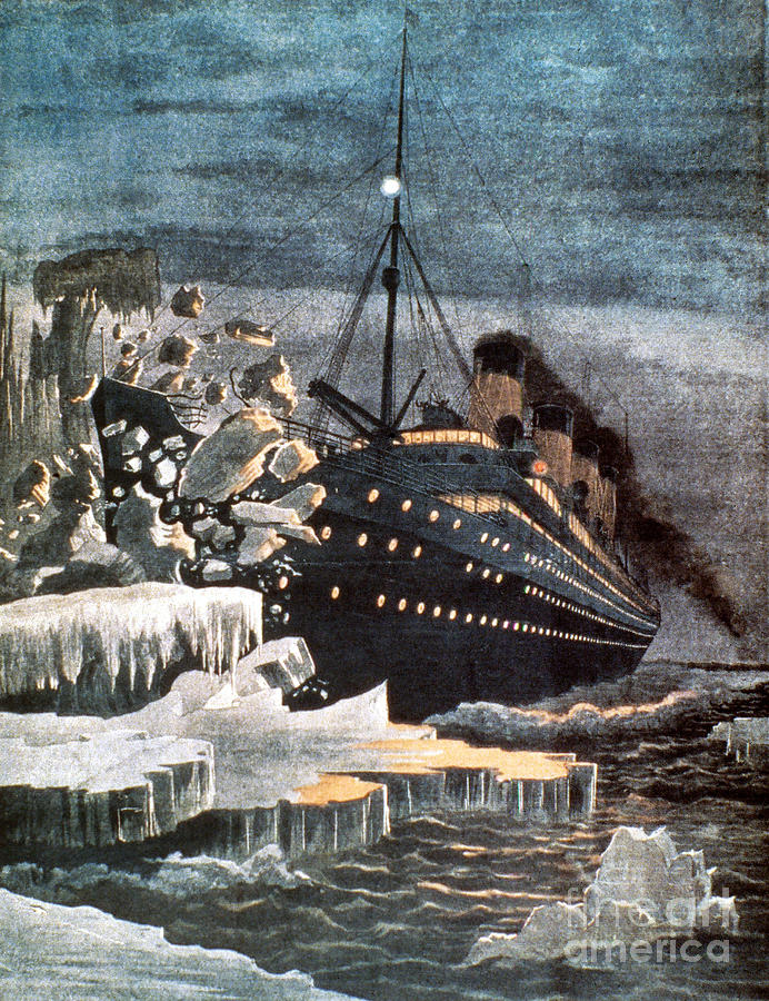 Sinking Of The Titanic Photograph  - Sinking Of The Titanic Fine Art Print