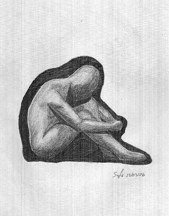 Human Figure Drawing - Sketch by Safa Al-Rubaye