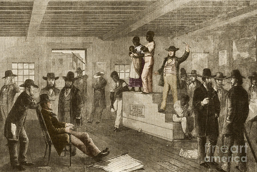 Slave Auction, 1861 Photograph