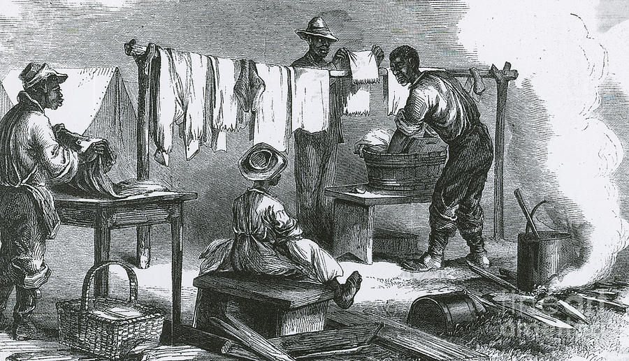 Slaves In Union Camp Photograph