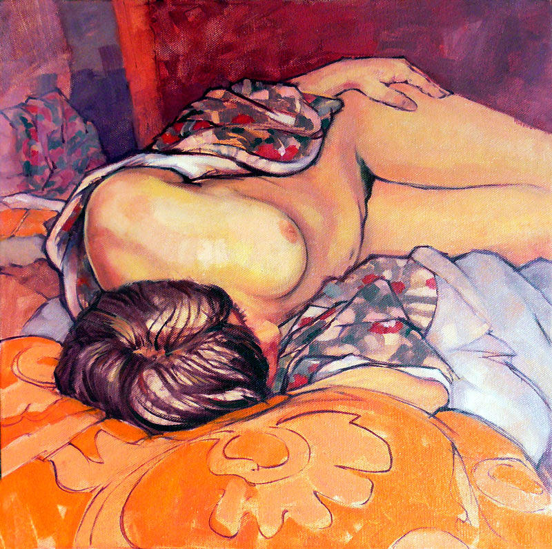 Sleeping Female Nude Painting  - Sleeping Female Nude Fine Art Print