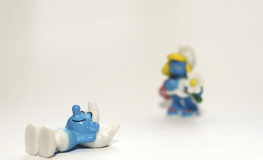 Smurf Figurines Photograph
