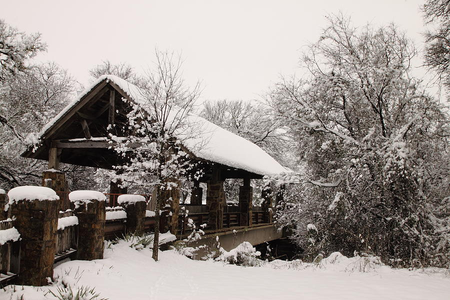 Snow Covered Bridge Photograph  - Snow Covered Bridge Fine Art Print