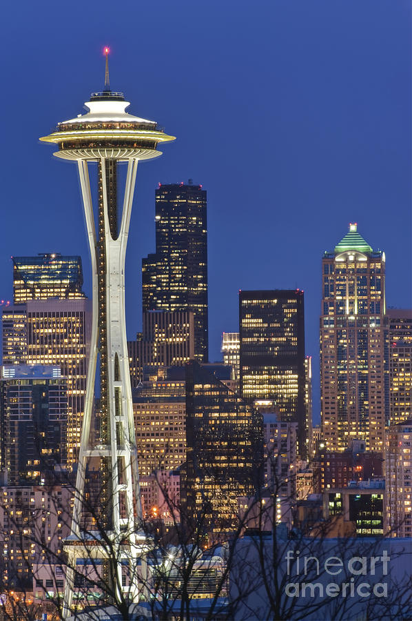 Space Needle And Downtown Seattle Skyline Photograph