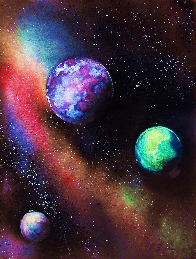Space painting painting for Outer painting design