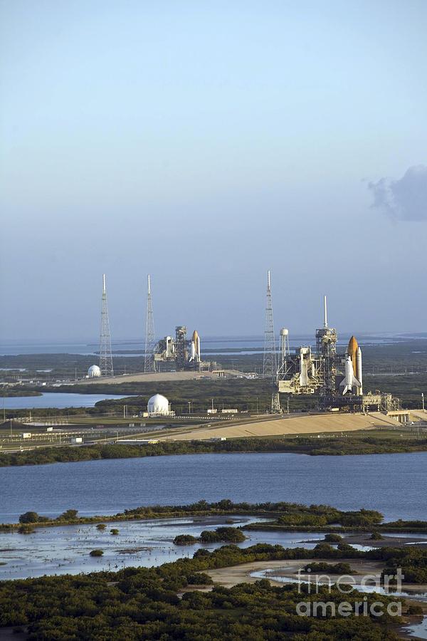 Space Shuttle Atlantis And Endeavour Photograph