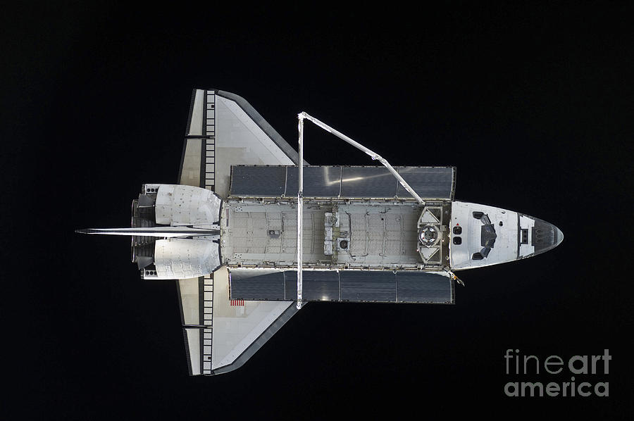 Sts-132 Photograph - Space Shuttle Atlantis Backdropped by Stocktrek Images