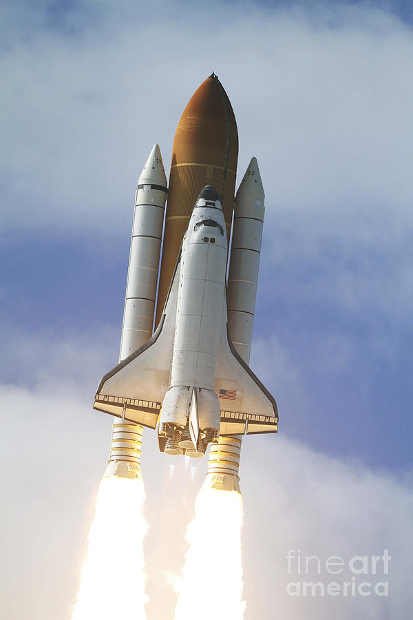 Ov-104 Photograph - Space Shuttle Atlantis Lifts by Stocktrek Images