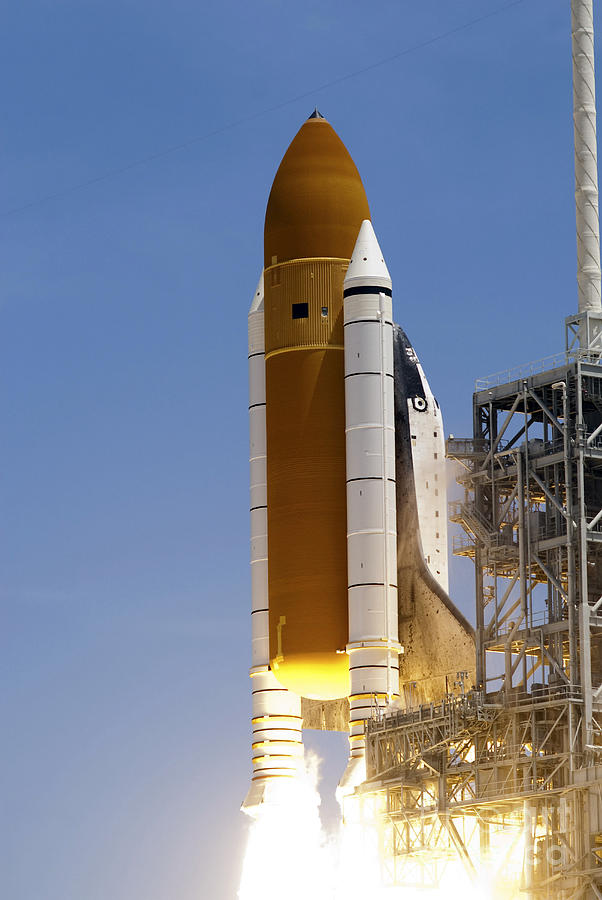 Space Shuttle Atlantis Twin Solid Photograph