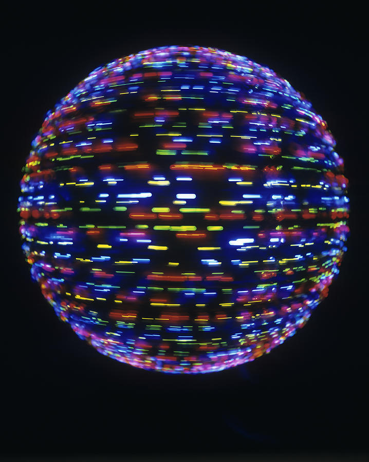 Globe Photograph - Spinning Globe by Lawrence Lawry
