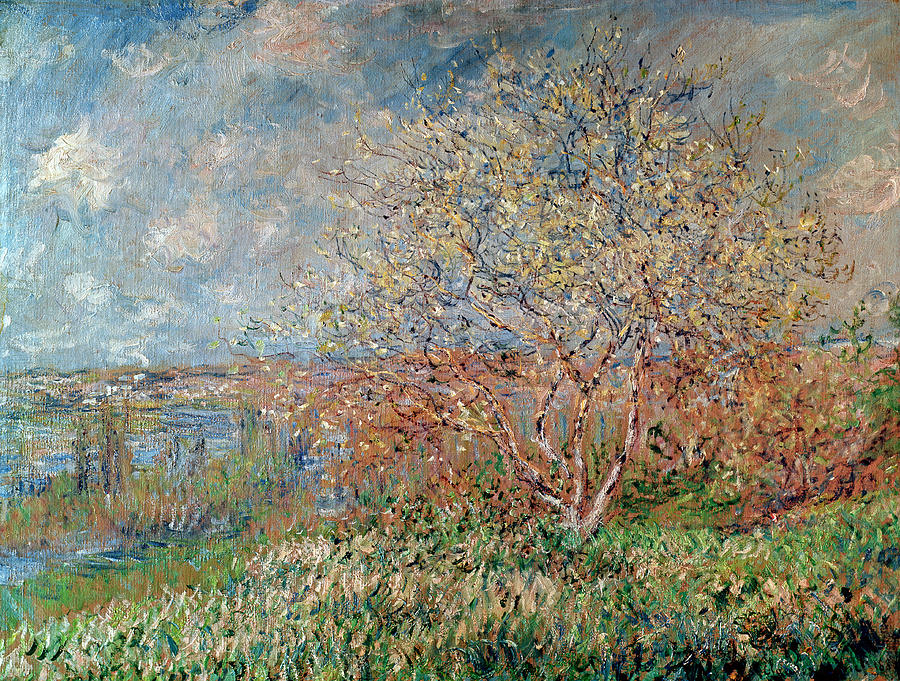 Spring by claude monet for Spring canvas paintings