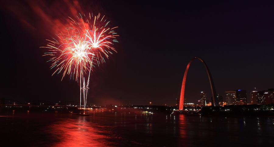 St. Louis Fireworks Photograph