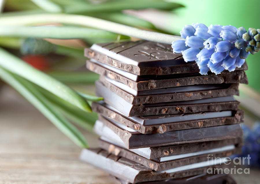 Stack Of Chocolate Photograph