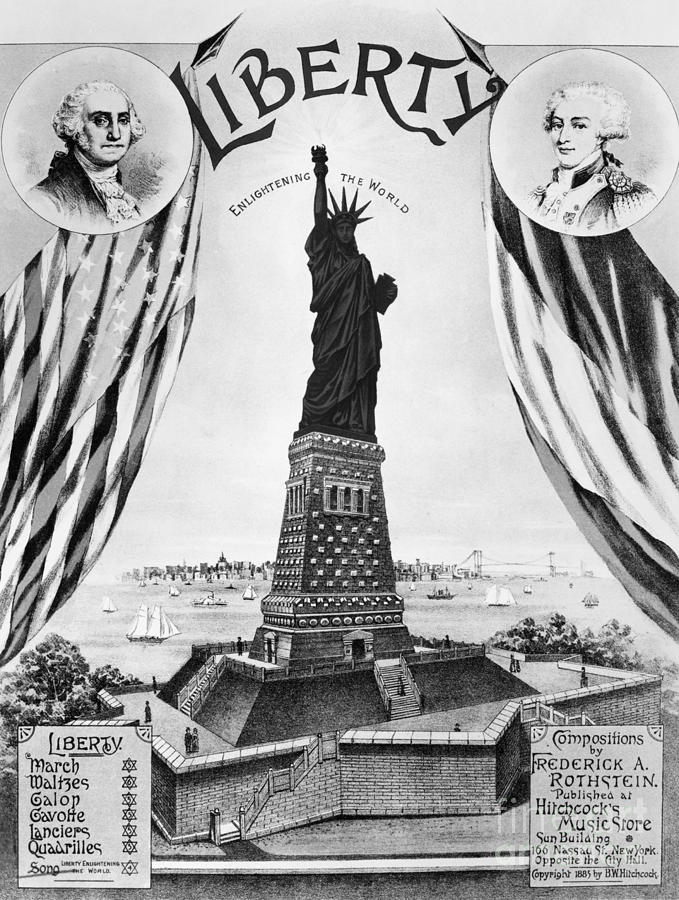 Statue Of Liberty, 1885 Photograph  - Statue Of Liberty, 1885 Fine Art Print