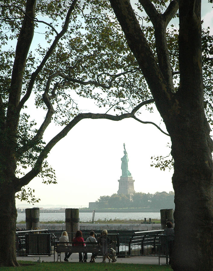 Statue Of Liberty From Ellis Island Photograph