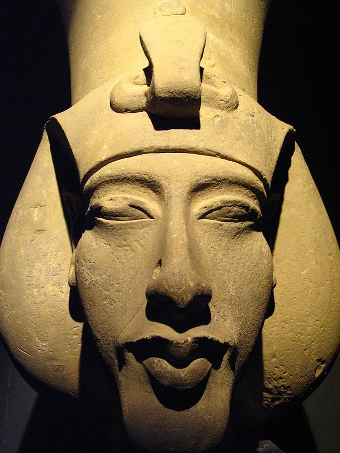 Statue Of Pharaoh Akhenaten, Also Known Photograph