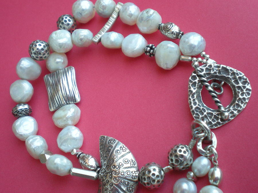 Sterling Pearl Bracelet Jewelry