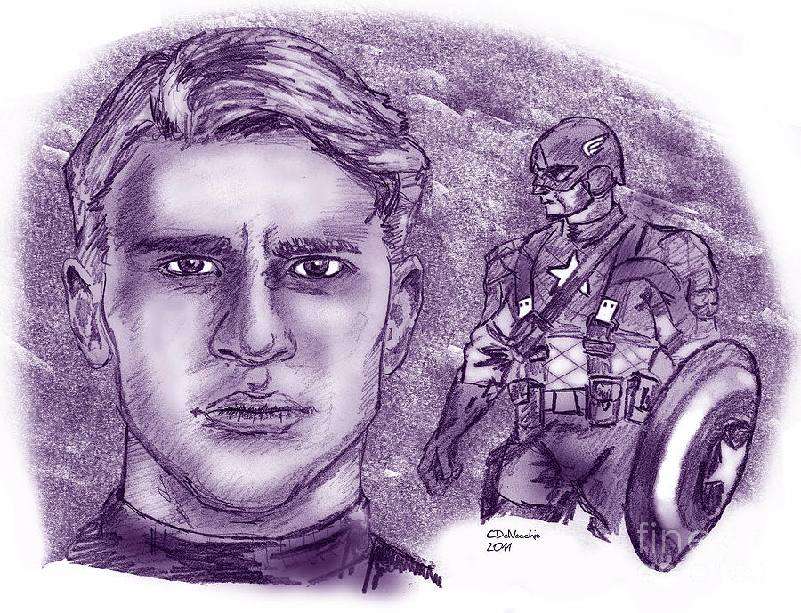 Steve Rogers Captain America Drawing