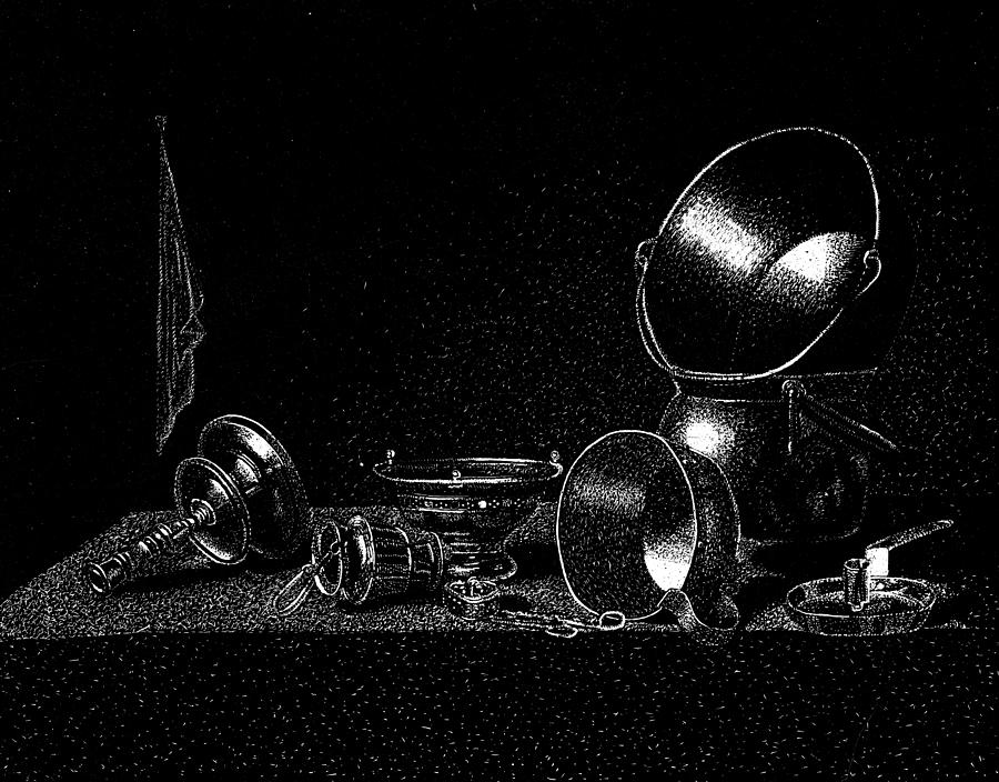 Still Life Drawing - Still Life by Norbert Varga