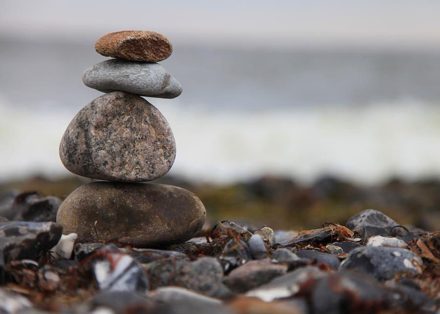 Stones At The Sea Photograph