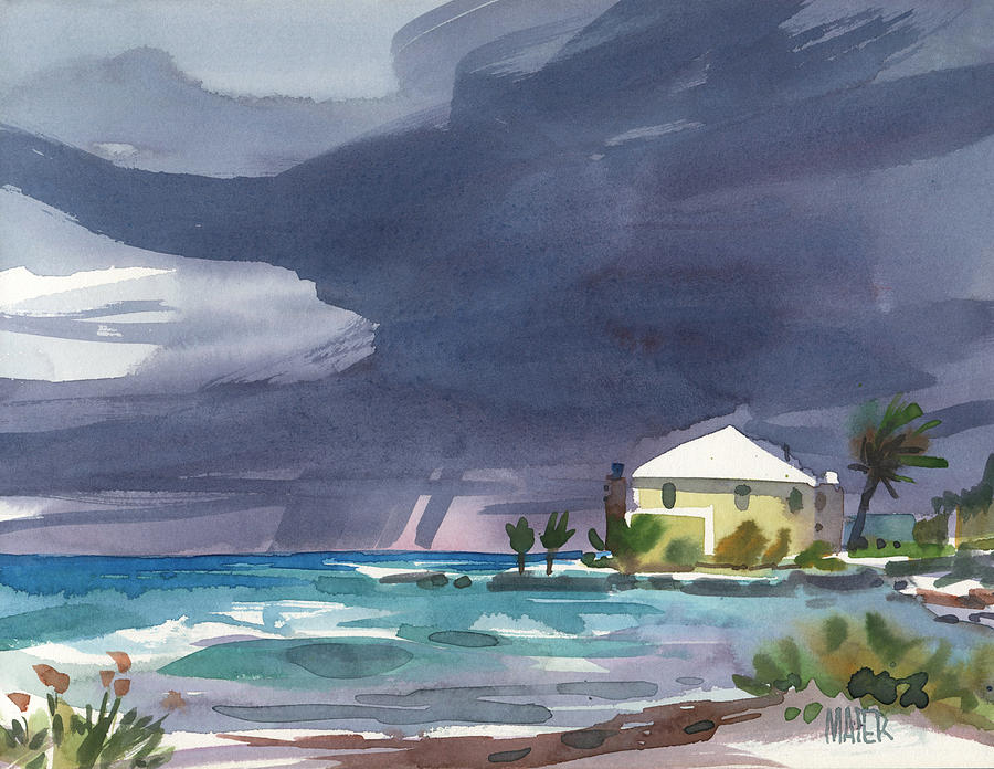 Storm Over Key West Painting