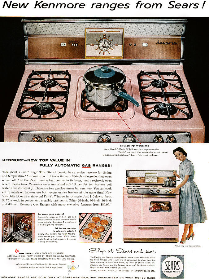 Stove Advertisement, 1957 Photograph