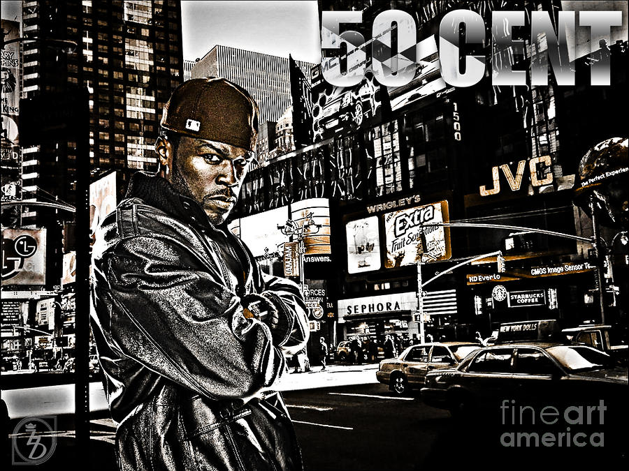 Street Phenomenon 50 Cent Digital Art  - Street Phenomenon 50 Cent Fine Art Print