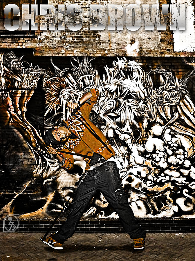 Street Phenomenon Chris Brown Digital Art  - Street Phenomenon Chris Brown Fine Art Print
