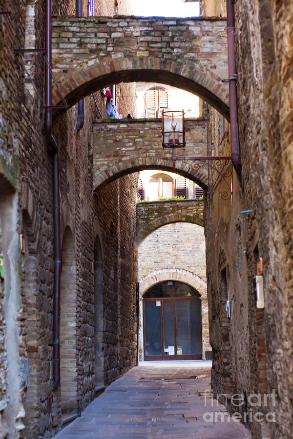 Streets Of San Gimignano Photograph
