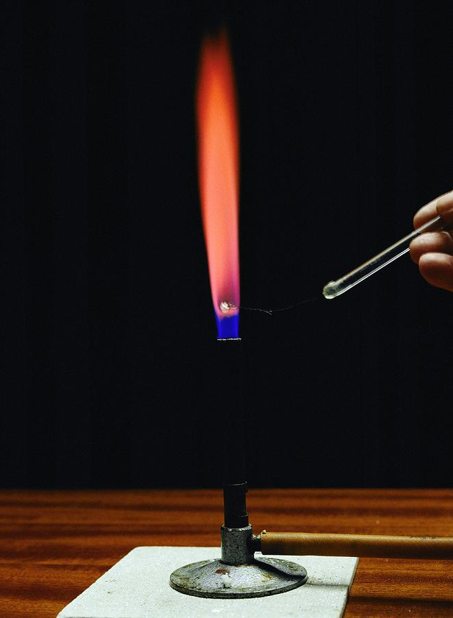 Analysis Photograph - Strontium Flame Test by Andrew Lambert Photography