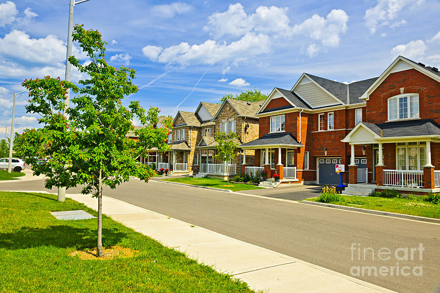 Suburban Homes Photograph  - Suburban Homes Fine Art Print